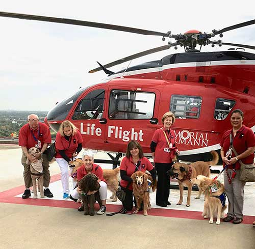 Life Flight and Faithful Paws Pet Therapy